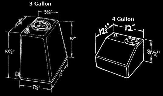 Jaz 3 Gallon Econo Rail Fuel Cell - Fuel Cell No Foam - Natural